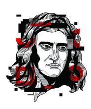 Isaac Newton. Red Crazy.