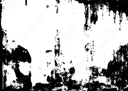 Vector grungy black isolated texture for your design Wallpaper Mural