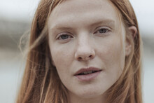Portrait Woman With Red Hair O...