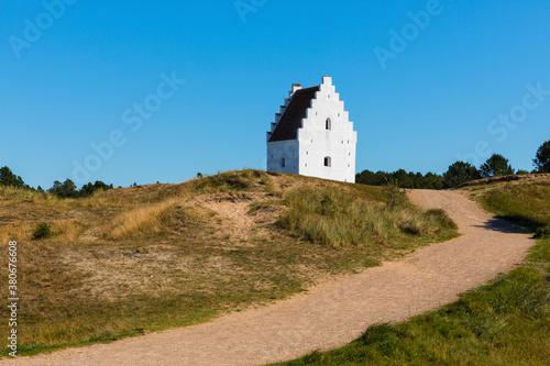 Fototapeta The Sand-Covered church or Buried Church near Skagen