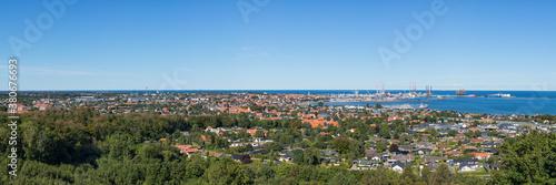 Fotografía Panorama of Frederikshavn on the Baltic Sea coast, North Jutland, Denmark