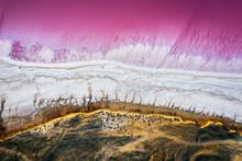 Abstract View Of Pink Lake Sal...