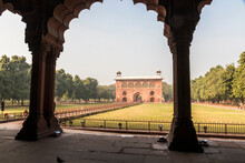 Delhi, India. The Naubat Khana Or Naqqar Khana, The Drum House That Stands At The Entrance Between The Outer And Inner Court At The Red Fort