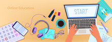 Online Education Vector Banner...