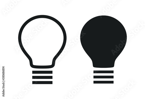 Fototapeta High Quality Simple Black Icon on White Background . Isolated Vector Element obraz