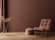 Minimalist Home Interior Background, 3D Render