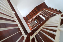 Top View Spiral Wood Stairs Wi...