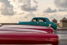 Classic Cars Driving In La Hav...