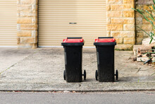 Wheelie Bins Out On Collection...