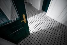 Moody Retro Hallway