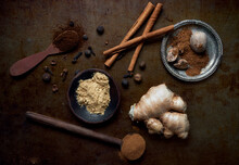 Variety Of Spice Often Used In Pumpkin Spice Mix, Cinnamon Nutme