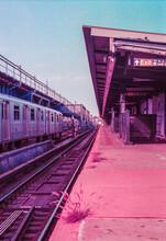 Surreal Purple New York Subway