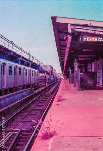 Surreal Purple New York Subway - 380700687