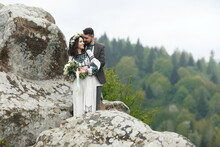 Wedding Photo Of Two Cute Newl...