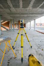 Total Station At Construction Site