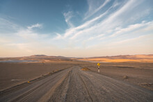 Empty Road In The Desert