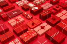 Red Themed Christmas Presents