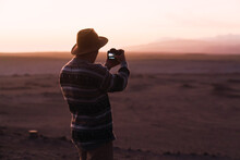 Man Alone In The Desert