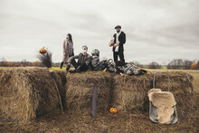 Halloween Party On The Hay Rolls