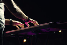 Keyboard Player At A Concert