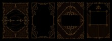Set Of Art Deco Borders And Fr...