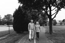 Happy Senior Couple On A Walk