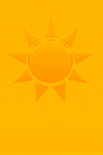 Illustration Of A Sun On Orang...