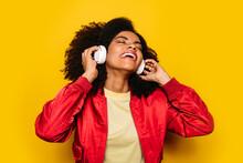 Beautiful Afro Woman Listening...