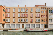 Houses Overlooking A Canal In ...