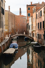 Typical Canal Scene In Venice