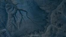 Blue Cracks In The Desert