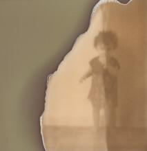 Old Expired Polaroid Photo Of A Kid