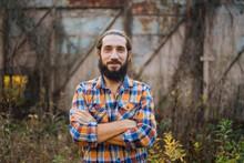 Portrait Of A Bearded Man In A...