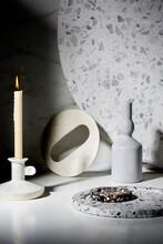 Moody Tabletop Of Luxury Marbl...