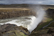 View Of Gulfoss Waterfall, And...