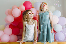 Two Girls With Balloons