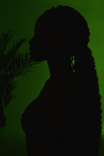 Silhouette Of A Black Girl On ...
