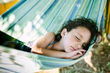Adorable Kid Sleeping In A Ham...