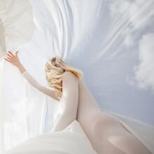 Female Model Under Translucent...