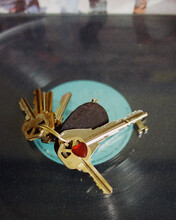 A Heart Key On The Record Player