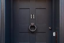 Number 11 Black Front Door