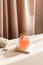 Grapefruit Lemonade With Rosemary