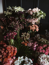 Variety Bouquets Of Flowers