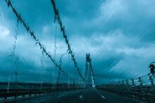 Crossing A Suspended Bridge In...