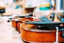 Modern Shiny Violin Placed On ...