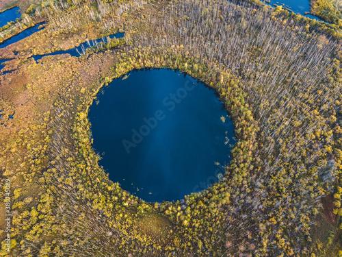 Bottomless circle Lake, Moscow region. Russia Fototapeta