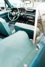 Vertical Shot Of A Vintage Cabriolet Car