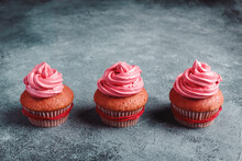 Yummy Colorful Cupcakes With W...