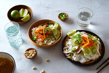 Vegan Rice Noodle Salad Made W...