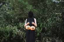 Faceless Person Covering Face ...